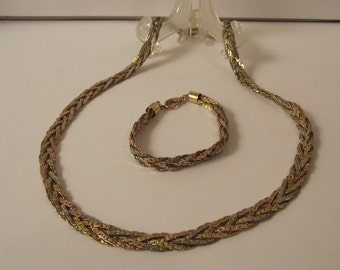 Vintage Braided Necklace & Bracelet st