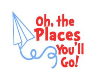 Oh, the Places You'll Go Decal