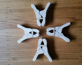 """Set of 4 Play Clips 3/4"""" width - waldorf style"""