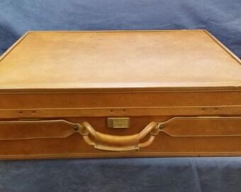 Vintage Hartmann Luggage Leather Suitcase