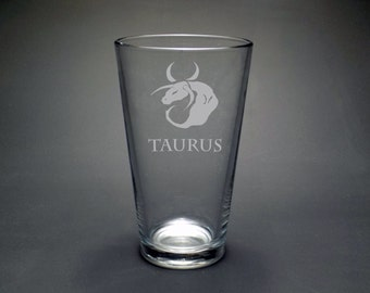 Taurus Pint Glass - Astrological Pint Glass