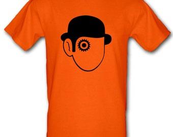 A CLOCKWORK ORANGE Stanley Kurbrick Cult film Droog 100% Cotton t-shirt All Sizes Small - XXL (kids and adults)