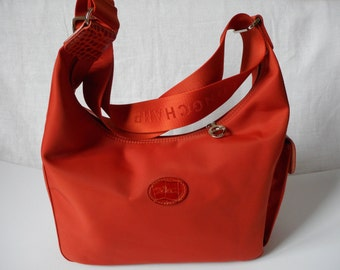 LONGCHAMP Bag, Handbag/Shoulderbag, Fabric and Genuine Leather, Rusty Color, Made in France