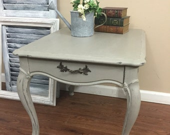 SOLD - French Provincial Side Table - Nightstand