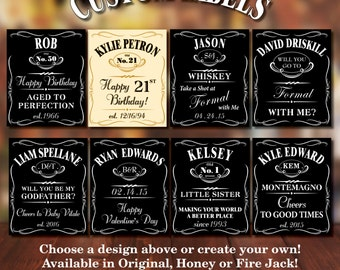 Custom Jack Daniels Bottle Labels for Any Occasion!