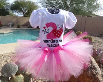 Personalized Valentine's Day tutu outfit, Birthday tutu