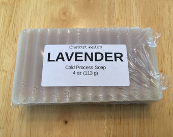 Homemade Lavender Chemist Keith Cold Process Bar Soap, 4 oz