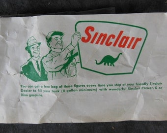 Sinclair Dinosaurs In a Bag. Gas Station Hand-Outs - Vintage