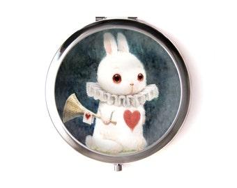 Alice in Wonderland pocket mirror & Organza pouch