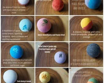 Bath Bomb Set 12 Ultra Lush Handmade Fizzies Shea Cocoa Butter Moisturize Dry Skin Luxurious ...