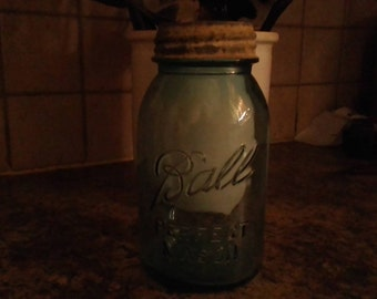 Ball Perfect Mason 1qt jar Aqua