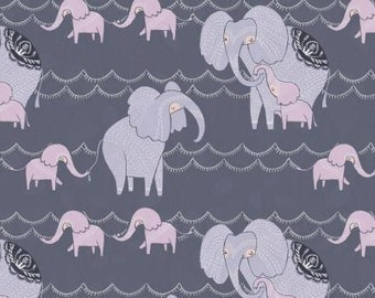 Dreamscape Elephants Wet Bag in Lavender & Pewter~Baby, Swim, Travel, Diaper, or Beach Wash Bag~ Dry Bag~ Reuseable