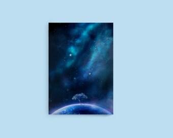 Pocket Notebook: Paradox World, Space Notebook, Art Notebook, Universe Notebook, Galaxy Notebook, Fantasy Notebook, Anime Notebook