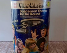 Vintage GAF View Master Spacemen Theatre In The Round 2D Entertainer Projector 1978 Toys Buck Rogers Flash Gordon Star Trek's Captain Kirk