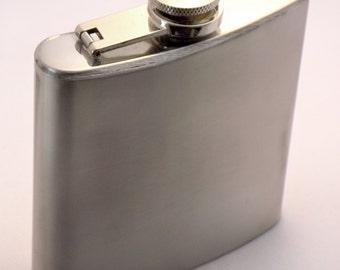 Stainless Steel Classic Pocket Flask Alcohol Whiskey Liquor Bottle 6 oz / 177 ml Perfect Gift