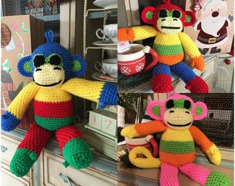 Let's Hang out! - Amigurumi Patchwork Monkey