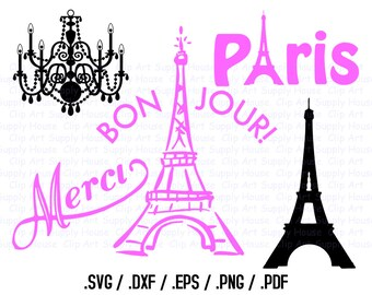 Paris Clipart, Paris SVG Files, I Love Paris Clipart, Parisian Silhouette Files, Paris Cricut, Paris Silhouette File, French SVG - CA211