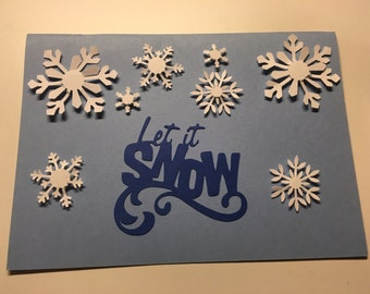 Let it Snow Christmas Card with envelope