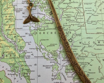 Whale Bookmark - Whale's Tail Bookmark