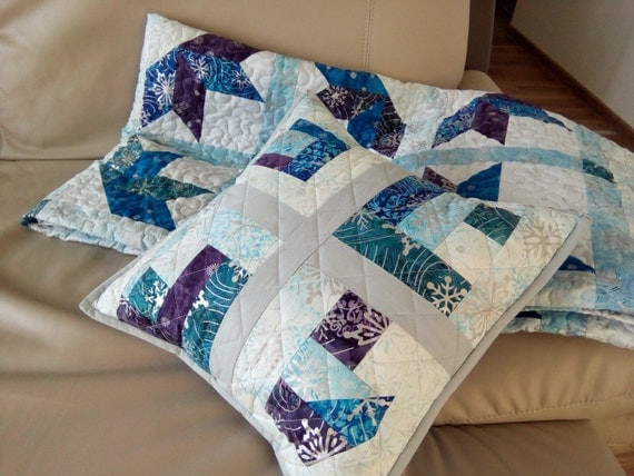 Winter Decorative Pillow Cover Quilted Cushion Holiday