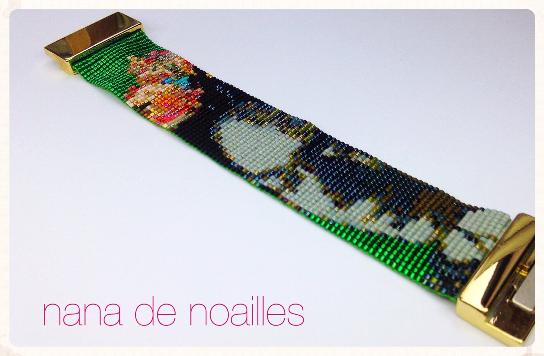 Relativ Bracelet Manchette Perles de rocailles Miyuki Tissées / Half  YY17
