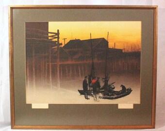 "JUST REDUCED Elton Bennett ""The Returning"" original hand-pulled silkscreen ART10019"