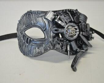 Handmade Cyberpunk Robot mask Steampunk Techno Goth