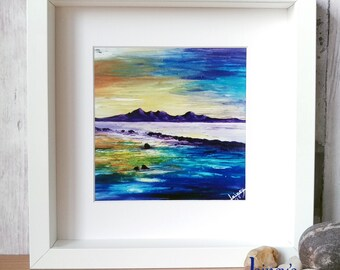 Arran PRINT, landscape painting, seascape, Scotland print, beach decor, arran painting, landscape, beach, coastline, scotland