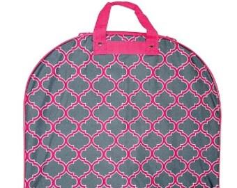 Monogram Garment Bag Pink and Gray Quatrafoil Garment Bag