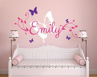 Butterfly Name Wall Sticker / Vinyl Decor / Personalised decorative/custom design
