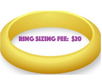 Ring Sizing Fee - You must MESSAGE ME to be sure your ring can be sized - 20.00 fee up or down