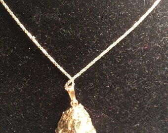 925 sterling silver necklace with crystal geode? /stone pendant