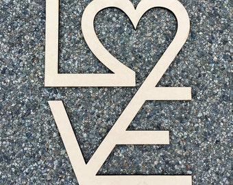 Love / Wood Sign  / Laser Cut / Wall Art