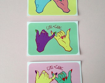 Girl Gang Stickers (SET OF 3)