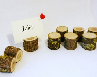 20 rustic wedding place card holders table number holders, wood place card holders, wedding card holders, wooden card holders