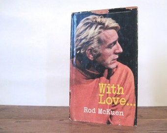 with love ... By Rob McKuen - 1970's vintage, hard cover poetry book with dust jacket