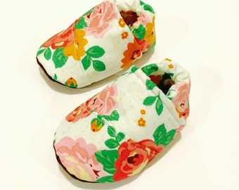 Buy 2, Get 1 Free: floral Baby shoes, girl baby shoes, pink baby shoes, floral baby girl shoes