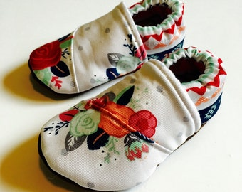 Buy 2, Get 1 Free: floral baby moccasins, floral Baby shoes, girl baby shoes, pink baby shoes, floral baby girl shoes