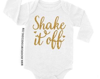 Shake it Off Glitter Long Sleeve Bodysuit