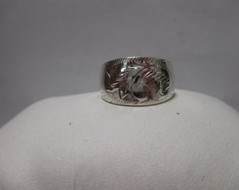 Sterling Silver Ring Band Stamped