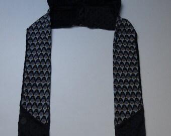 scarves-hoods doudou on grounds penguins, stars, Zebra