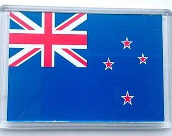 New Zealand Country Flag Jumbo Acrylic Fridge Magnet
