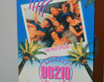 Beverly Hills 90210 The Pilot Episode on VHS with Postcards of the Cast Luke Perry Jason Priestley Shannen Doherty Jennie Garth Ian Ziering