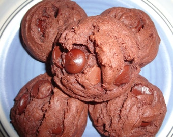 Perfect Homemade Double Chocolate Chip Pudding Cookies (30 Cookies)