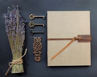 Linen and Leather Large Sketchbook
