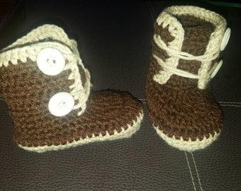 Crochet Baby Boy Boots