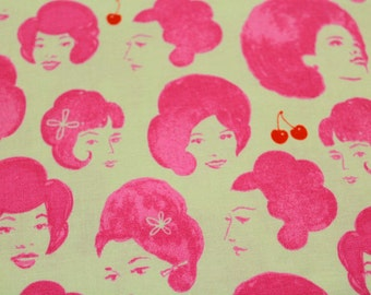 Patchwork fabric - Retro girls