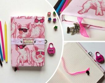 "Handmade diary with lock ""Life is beautiful"""