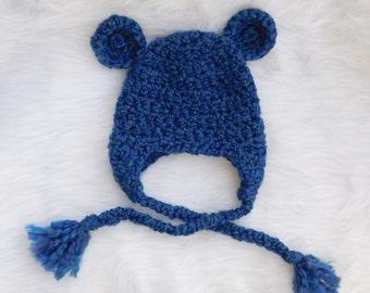 Baby bear hat.Fuzzy hat.Newborn hat.Photo prop.Boys newborn.Baby Girls newborn.Baby gift.Ready to ship