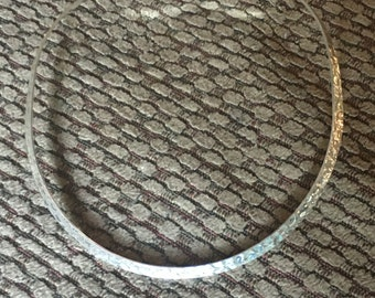 Silver hammered choker